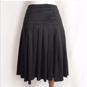 Robert Rodriguez black skirt drop waist pleating